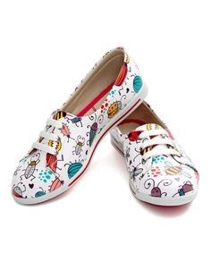 Love this White Bugs Printed Lace-Up Sneaker by Neefs on #zulily! #zulilyfinds