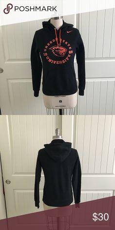 Oregon State University Nike Sweatshirt Slim fitting women's nike sweatshirt. Glitter lettering. Good Condition. Nike Tops Sweatshirts & Hoodies