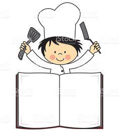 Chef e elementos da cozinha dos desenhos animados for Elementos de cocina para chef