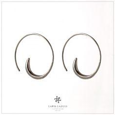 Medium Silver Spiral Earring Ear Earrings, Gemstone Earrings, Spiral, Ears, Gemstones, Medium, Silver, Jewelry, Jewlery