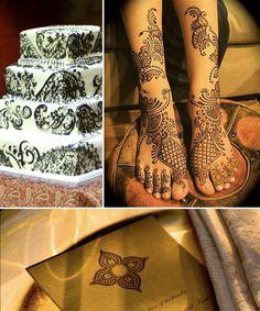Henna Inspiration Board: Beautiful Henna Design Wedding Cake by Hot Breads, Lovely Bridal Mehendi, and Henna Inspired Stationary Indian Wedding Cakes, Indian Wedding Planning, Indian Bridal Wear, Bridal Henna, Wedding Budget Worksheet, Wedding Planning Checklist, Asian Inspired Wedding, South Asian Wedding, Wedding Henna Designs