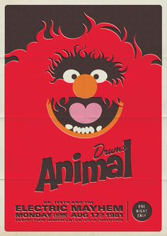 Electric Mayhem Posters! #Muppets ANIMAL!! By Michael DePippo