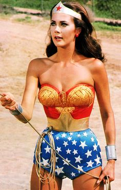 Lynda Carter as Wonder Woman, 1970s. ☀Talk about a blast from the past!!I used to have a crush on her!!Really does look like Wonder Woman!!