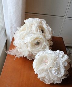 Romantic fabric flower bouquet soft paper by AlternativeBlooms..... nice to keep for memories