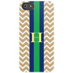 Chevron iPhone Case with stripe and monogram
