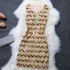 Cool! Noble Embroidery Sequin A Line Lady Party Dress just $44.99 from ByGoods.com! I can't wait to get it!