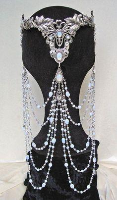 White Opal Elven Crown #The_Goth_Life #goth #gothic #dark #vampire #werewolf