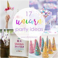 Unicorn Party Ideas #lollyjane #unicornparty #party #partyfun #diy