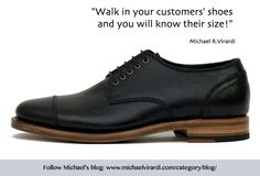 This is the 'shoe' of successful sales! By motivational speaker and consultant Michael R. Virardi