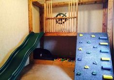 Baby & kids Diy kids playhouse indoor jungle gym Ideas Tips For Getting To Know Luxury Bedd Garage Playroom, Indoor Playroom, Kids Indoor Playhouse, Kid Playroom, Playhouse Plans, Playroom Design, Kids Basement, Playroom Organization, Indoor Jungle Gym