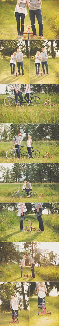 // little bikes and chalkboard.