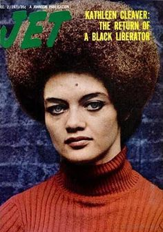 Kathleen Cleaver of the Black Panther Party covers Jet magazine. American Women, African American History, Native American, Jet Magazine, Black Magazine, Life Magazine, Black Panther Party, Black Party, Ebony Magazine Cover