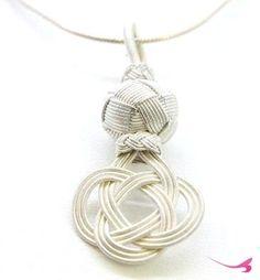 Sterlin Gümüş 925 Ayar Kazaziye El İşi Aşk Düğümü Kolye 08107
