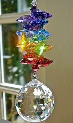 Window Prism Swarovski Crystal Sun Catcher by HeartstringsByMorgan