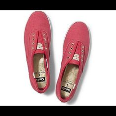 Pink Kate Spade Keds Perfect condition, maybe worn 2-3 times. From the Summer 2015 collection. Color is actually more of a brighter pink than the almost more-slate-ish color the photo shows off. kate spade Shoes Flats & Loafers