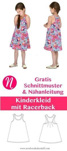 Baby Accessories Freebook - Kinderkleid mit Racerback. PDF-Schnittmuster zum ...