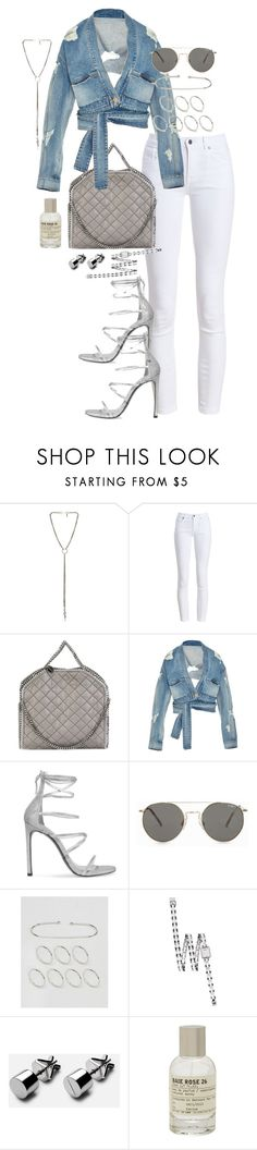 """""""Untitled #1106"""" by marissa-91 ❤ liked on Polyvore featuring Vanessa Mooney, Barbour, STELLA McCARTNEY, Jonathan Simkhai, Stuart Weitzman, Le Specs, ASOS, Chanel and Le Labo"""