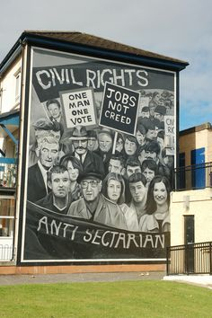 Bogside Civil Rights Mural, Derry, Ireland
