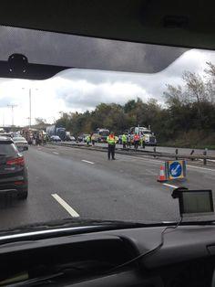 Scene of the #M1 crash
