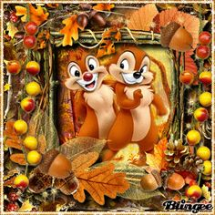Chip and Dale Autumn Scrap by villemo20