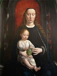 Polyptych of Cervara: center panel Madonna and Child Enthroned, 1506 Gerard David