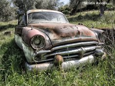 Photo old car by Stratis Axiotis on Rusty Cars, Abandoned Cars, Barn Finds, Ghost Towns, Old Cars, Antique Cars, Trucks, Antiques, Photos