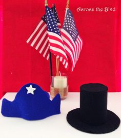 President's Day Miniature Felt Hats by @bjroderick #kids #fun #keppy   http://goo.gl/MLwT2z