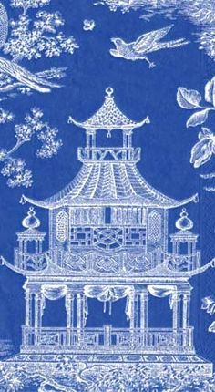 Chinoiserie fabric. blue and white | Chinoiserie | More here: http://mylusciouslife.com/photo-galleries/a-colourful-life-colours-patterns-and-textiles/