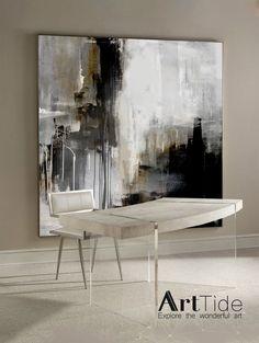Minimalist Abstract PaintingLarge Abstract ArtBlack And Black Canvas Art, Textured Canvas Art, Abstract Canvas Art, Black And White Abstract, Art Texture, Texture Painting, Black And White Painting, White Art, Art Blanc