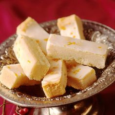 English lemon shortbread strips, nice with Tea Time...a recipe using Minnesota's own, Land 'o Lakes butter!
