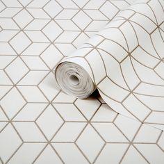 Superfresco Easy Gold Geometric Glitter Effect Wallpaper | Departments | DIY at B&Q