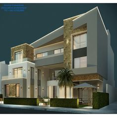 """""""Private Villa Concept designed by Inverse Architecture Firm #kuwait #kuwaitcity…"""