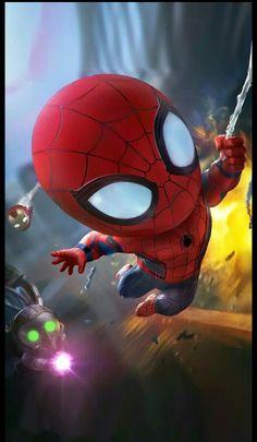 Spider man  regreso a casa  - chibi