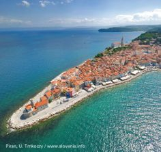 Piran, Slovenia on the Adriatic Coast~ You can drive from the capital Ljubljana in hours. Alternatively, fly into Trieste in nearby Italy and take the scenic ferry or drive. National Geographic Fotos, The Places Youll Go, Places To See, Les Balkans, Parque Natural, Slovenia Travel, Visit Slovenia, Destination Voyage, Northern Italy
