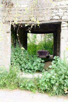 The abandoned village of Agios Fotios.