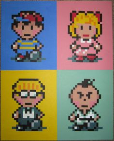 Classic Strawberry Banana and Mint by pixelartpaintings on Etsy, $80.00