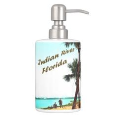 Indian River Florida Bathroom Set - home gifts ideas decor special unique custom individual customized individualized