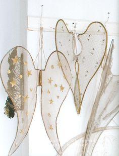 Floating angel wings