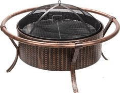 Weave Design Copper/Black Fire Pit