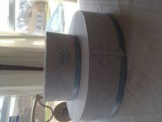Baptism matching cupcake stand