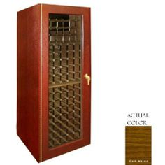 Vinotemp Vino-250g-dkwa 160 Bottle Wine Cellar - Glass Doors / Dark Walnut Cabinet by Vinotemp. $3149.00. Vinotemp VINO-250G-DKWA 160 Bottle Wine Cellar - Glass Doors / Dark Walnut Cabinet. VINO-250G-DKWA. Wine Cellars. This Vinotemp Wine Cellar features a space-saving design combined with a high quality oak exterior and classic brass finish piano hinges. The wine mate self contained cooling system ensures proper circulation while your wine is stored safely away. Digital tempera...
