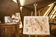 Rustic Tipi Wedding Map Seating Plan http://www.kat-hill.com/