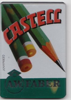 """WORLDWIDE KNOWN FOR IT´S EXCELLENCE. """" FABER CASTELL """" PENCILS ADVERTISING ON THIS GERMAN GLASS MIRROR"""