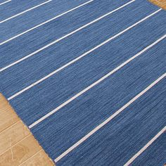 Pinstripe Dhurrie Rug - Shades of Light