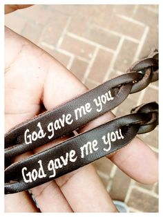 Couples bracelets • God Gave Me You. IG Credit & owner: @erinlael_ @bradleeyjames_