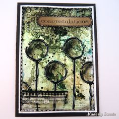 Made by Sannie: Splash card with video tutorial - #sssmchallenge - Create splashes this week @simonsaysstamp Monday Challenge.