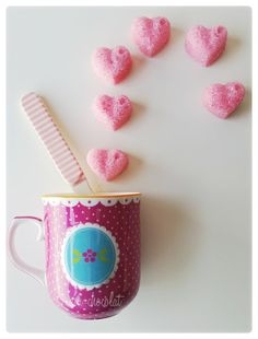 Ani-Chocolat: Azucarillos rosas (terrones de azúcar)