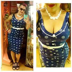 🏖⚓⛵🌊 @voodoovixenldn dress 😍😍 - #collectifclothing sunglasses from @goldentrash_morgantattoo - Gràcies @arah_armstrong per el timó 😍😘 #voodoovixenldn #voodoovixendress #pinup #rockabillygirl #pinupgirl #pinupstyle #rocker #pinupdress #sailorstyle #sailordress #sailorni