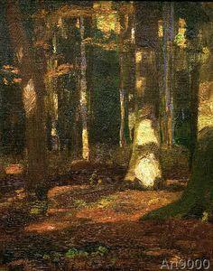 Gustav Kampmann - Rittnerwald im Herbst