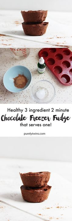 Healthy 3 ingredient FAT BURNING chocolate freezer fudge ready in two minutes. Super simple to make a healthier fudge when you're feeling something sweet and chocolate but don't want a lot of leftovers as this fudge serves just ONE. Easy, delicious and sinfully healthy for you to enjoy every day, this fudge is naturally gluten free, vegan, paleo, dairy free and refined sugar free. Quick fat burning fudge recipe that needs NO butter, condensed milk, dairy or sugar.